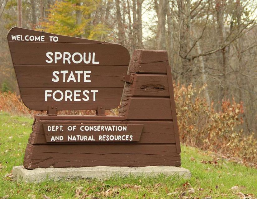 Renovo Sproul Forest Sign